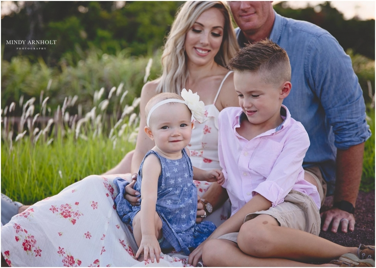 One Year Milestone Family Session | Mindy Arnholt Photography